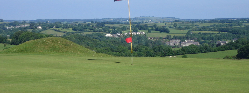 A view over Tavistock and Mount Kelly from the 8th Green