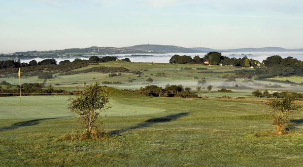The 8th Green and Radiation fog over Tavistock